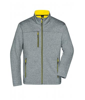 Herren Men's Softshell Jacket Dark-melange/yellow 8619