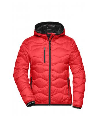 Damen Ladies' Padded Jacket Red/black 10234