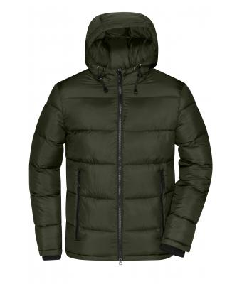 Men Men's Padded Jacket Deep-forest/yellow 10468