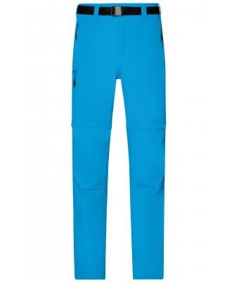 Herren Men's Zip-Off Trekking Pants Bright-blue 8601