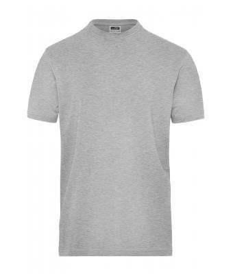 Herren Men's BIO Stretch-T Work - SOLID - Grey-heather 8708