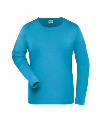 Damen Ladies' BIO Stretch-Longsleeve Work - SOLID - Turquoise 8706