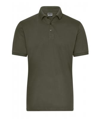 Men Men's BIO Stretch-Polo Work - SOLID - Olive 8703
