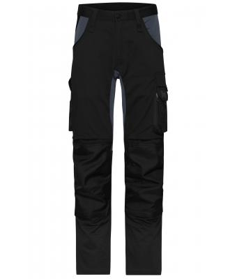 Unisex Workwear Stretch-Pants Slim Line Black/carbon 10431