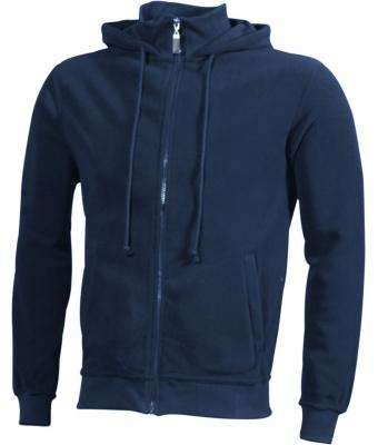 Unisex Microfleece Hooded Jacket Navy 7337
