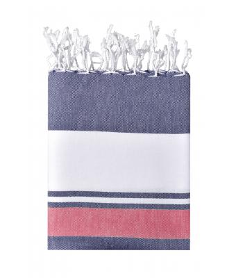 Unisex Beach Blanket Navy/red-white 10229