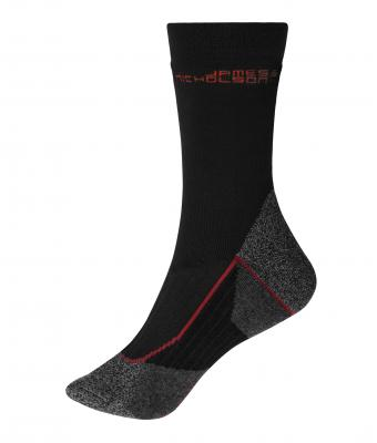 Unisex Worker Socks Warm Black/red 8668