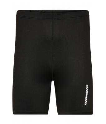 Men Men's Running Short Tights Black 7358