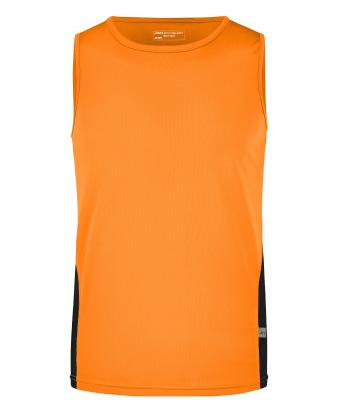 Herren Men's Running Tank Orange/black 7361