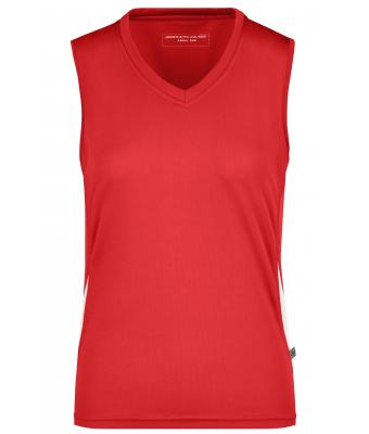 Damen Ladies' Running Tank Red/white 7371
