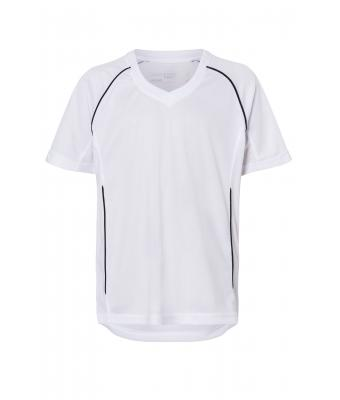 Kinder Team Shirt Junior White/black 7455