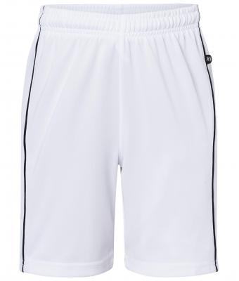 Kinder Basic Team Shorts Junior White/black 7457