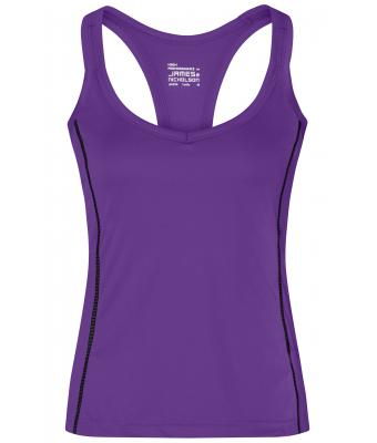 Damen Ladies' Running Reflex Top Purple/black 7490