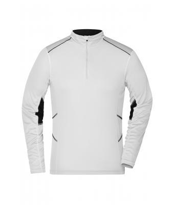 81264662140a2 Homme Tee-shirt running homme Blanc noir-Daiber