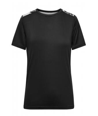 Damen Ladies' Sports Shirt Black/black-printed 10242