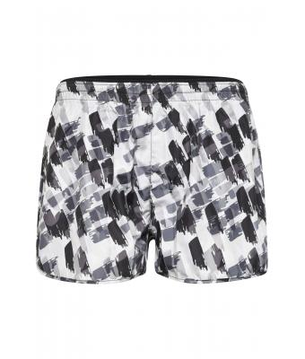 Damen Ladies' Sports Shorts Black-printed 10244
