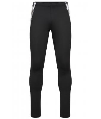 Herren Men's Sports Tights Black/black-printed 10247