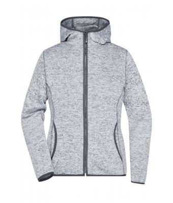 Ladies Ladies' Knitted Fleece Hoody Light-melange/carbon 8043