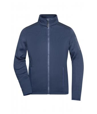 Ladies Ladies' Knitted Fleece Jacket Navy/navy 8045