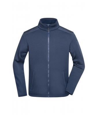 Men Men's Knitted Fleece Jacket Navy/navy 8046