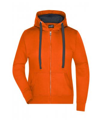 Ladies Ladies' Hooded Jacket Dark-orange/carbon 8049