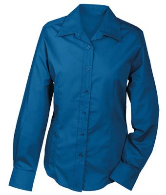 Damen Ladies' Promotion Blouse Long-Sleeved Royal 7526
