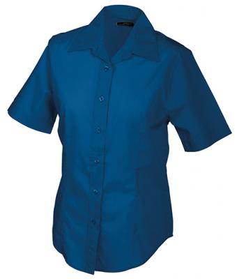 Damen Ladies' Promotion Blouse Short-Sleeved Royal 7527