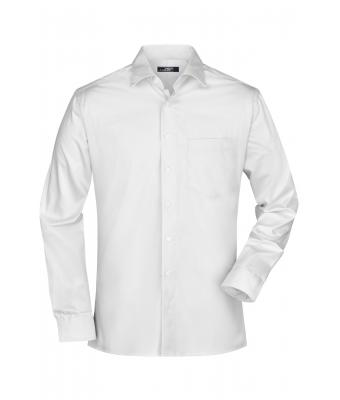 Homme Chemise homme twill manches longues Blanc 7530