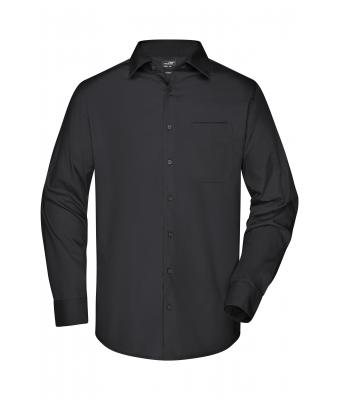 Men Men's Business Shirt Longsleeve Black 8389