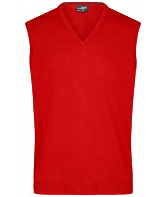 Men Men's V-Neck Pullunder Dark-orange 8058