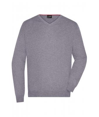 Men Men's V-Neck Pullover Grey-heather 8060