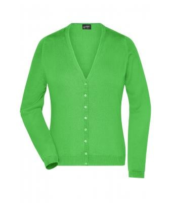 Ladies Ladies' V-Neck Cardigan Green 8061