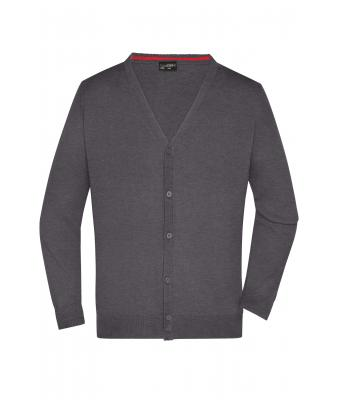 Men Men's V-Neck Cardigan Anthracite-melange 8062