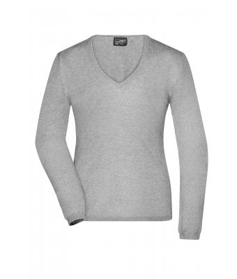 Ladies Ladies' Pullover Light-grey-melange 8364