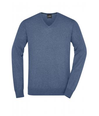 Men Men's Pullover Denim-melange 8365