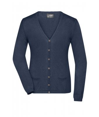 Ladies Ladies' Cardigan Navy-melange 8367
