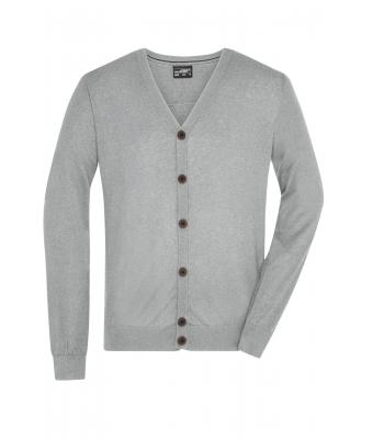 Men Men's Cardigan Light-grey-melange 8368