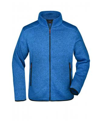 Men Men's Knitted Fleece Jacket Royal-melange/red 8305