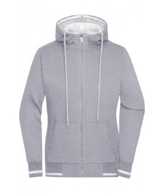 Ladies Ladies' Club Sweat Jacket Grey heatherwhite Daiber