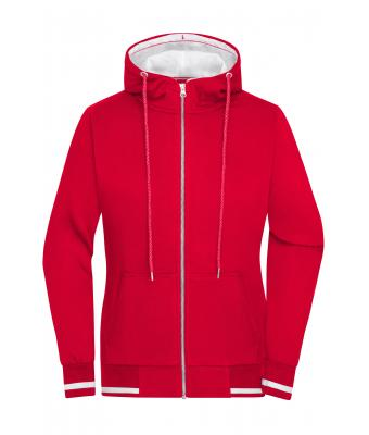 Ladies Ladies' Club Sweat Jacket Red/white 8577