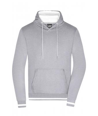 Herren Men's Club Hoody Grey heatherwhite Daiber