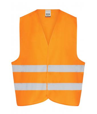 Herren Safety Vest Adults Fluorescent-orange 7549