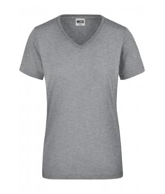 71123e00138 Ladies Ladies  Workwear T-Shirt Grey-heather-Daiber