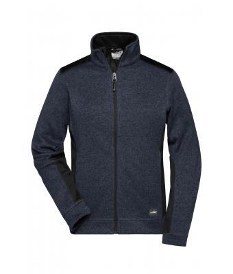 2a28bc538b64b Ladies Ladies  Knitted Workwear Fleece Jacket Carbon-melange black ...