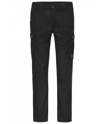 Unisex Workwear Cargo Pants - SOLID - Black 8713