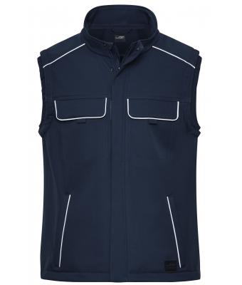 Unisex Workwear Softshell Vest - SOLID - Navy 8723