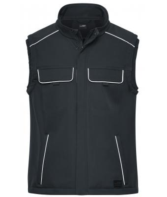 Unisex Workwear Softshell Vest - SOLID - Carbon 8723