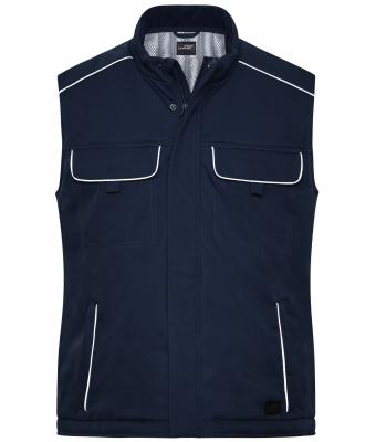 Unisex Workwear Softshell Padded Vest - SOLID - Navy 8725