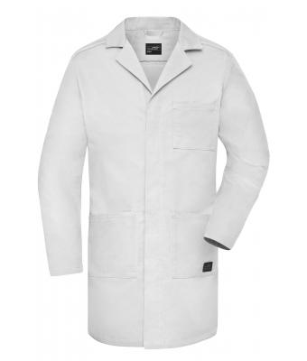 Unisex Work Coat - SOLID - White 8735