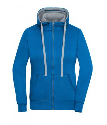 Ladies Ladies' Lifestyle Zip-Hoody Cobalt/grey-heather 8081